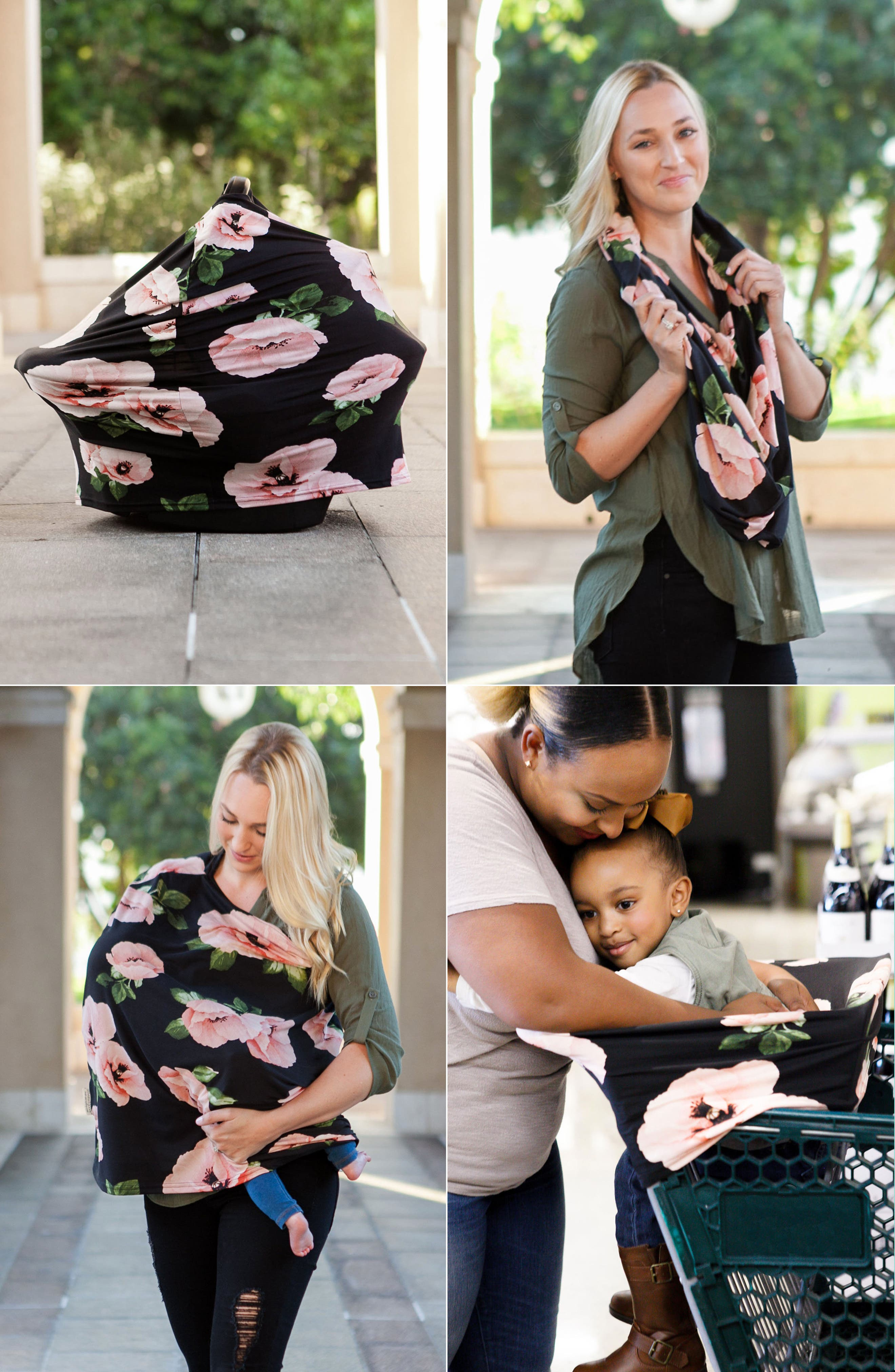 ,                             4-in-1 Nursing Cover,                             Alternate thumbnail 3, color,                             POPPIES