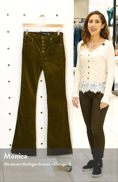 Beverly High Waist Corduroy Flare Pants, sales video thumbnail