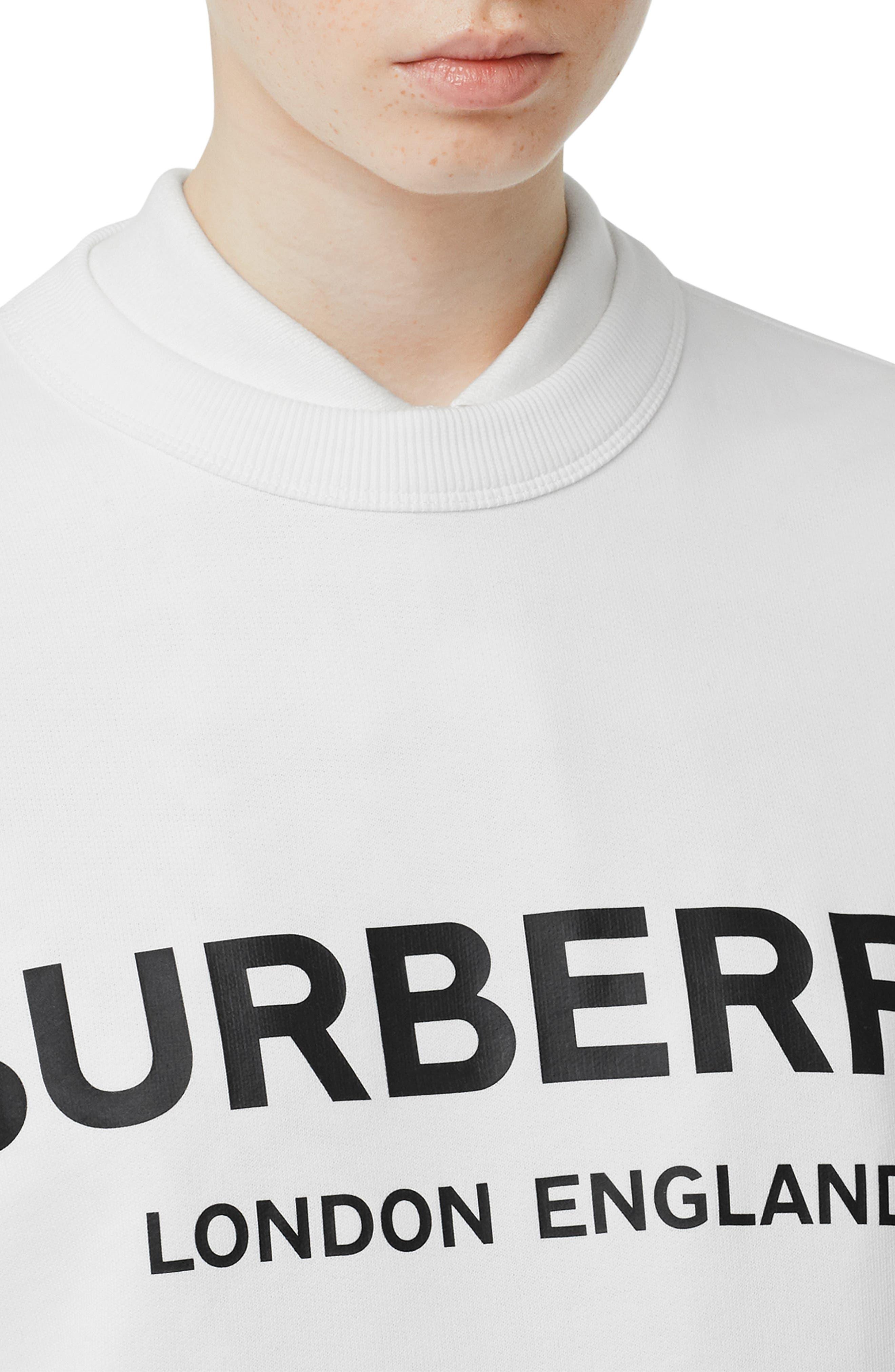 ,                             Fairhall Logo Print Sweatshirt,                             Alternate thumbnail 4, color,                             WHITE