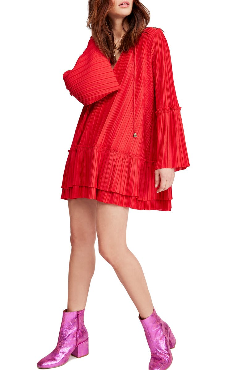 FREE PEOPLE Can't Help It Minidress, Main, color, RED
