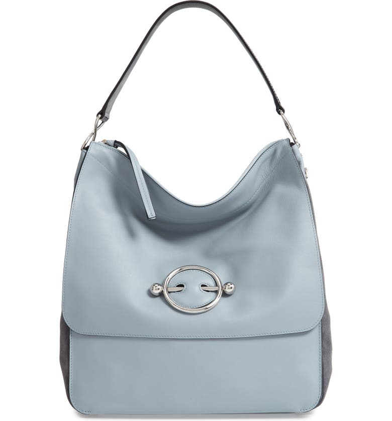 JW ANDERSON Disc Leather Hobo Bag, Main, color, 400