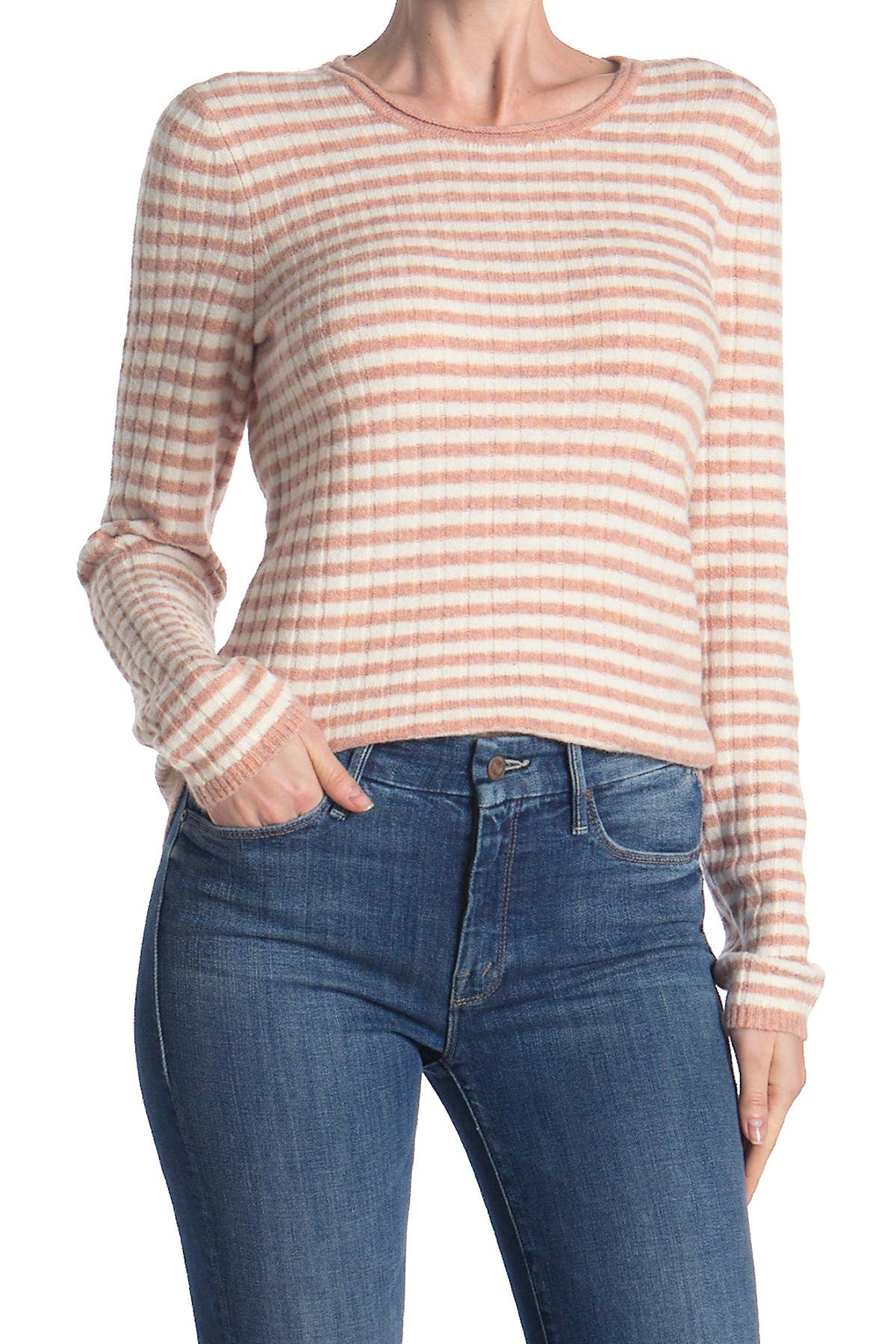 Image of Madewell Colette Striped Wool Blend Sweater