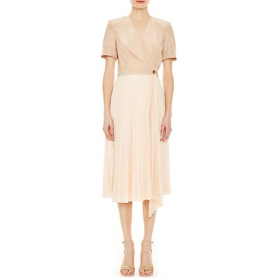 Sandro Gladis 2-In-1 Wrap Dress, 8 FR - Beige