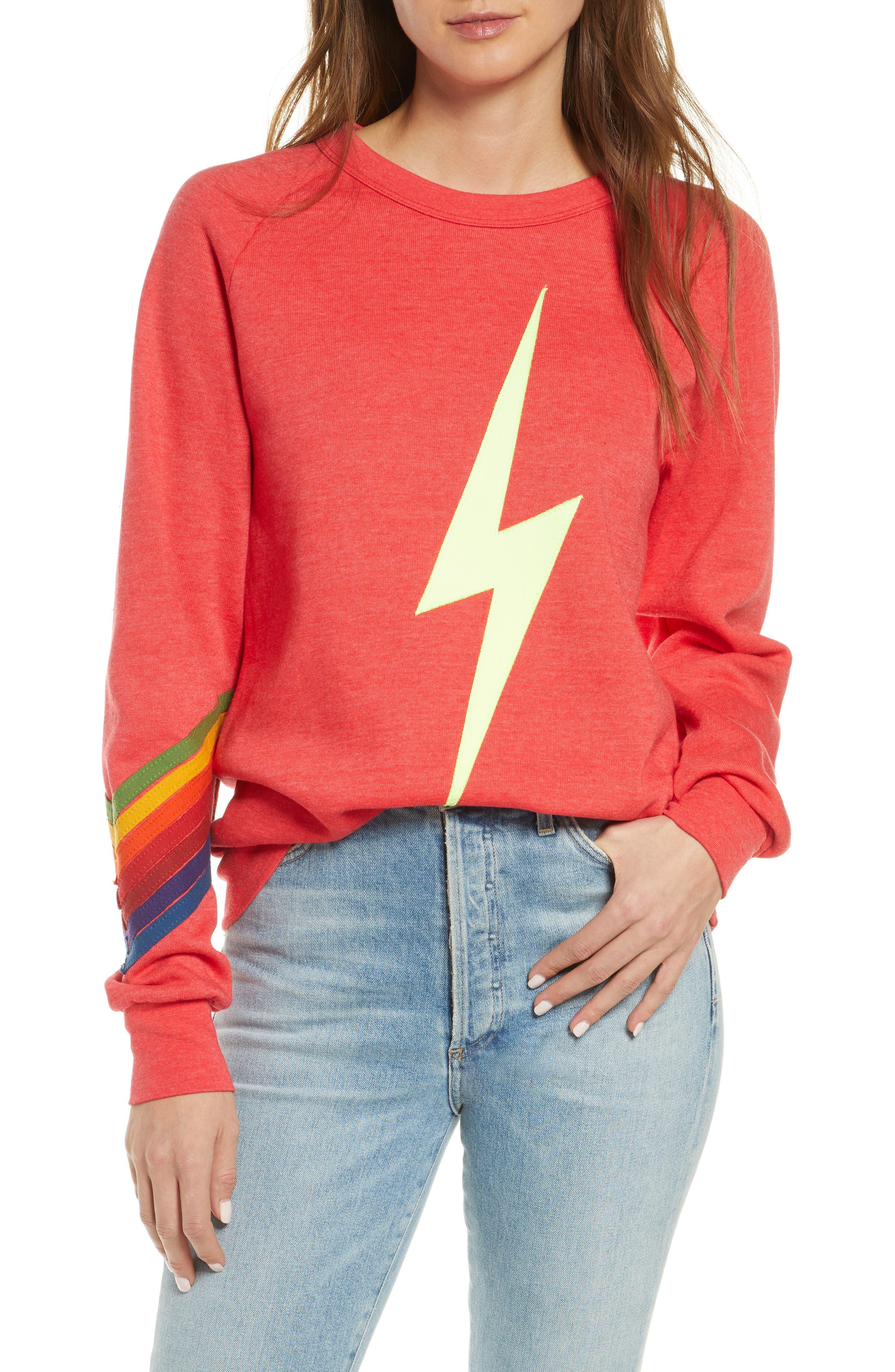 3 Lightning Bolt Women/'s Crew Neck