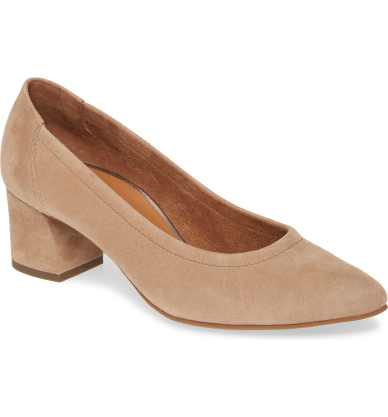 PAUL GREEN Tammy Pump, Main, color, CHAMPAGNE SUEDE