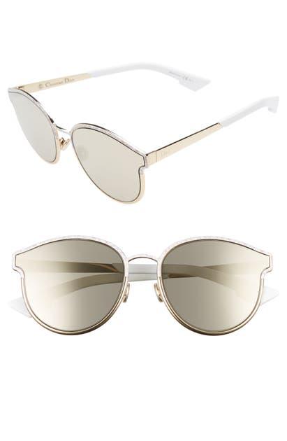 Dior Sunglasses SYMMETRICS 59MM SUNGLASSES - WHITE/ MARBLE GOLD