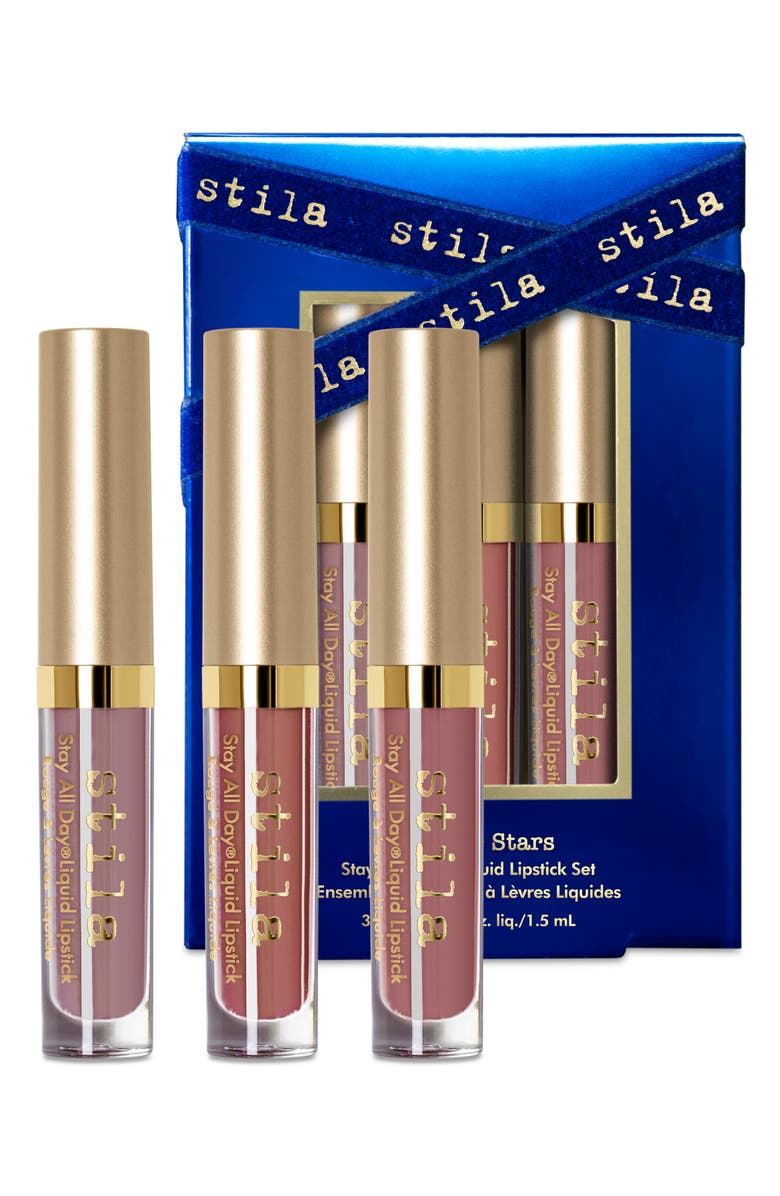 STILA Kiss The Stars Stay All Day<sup>®</sup> Travel Size Liquid Lipstick Set, Main, color, NO COLOR