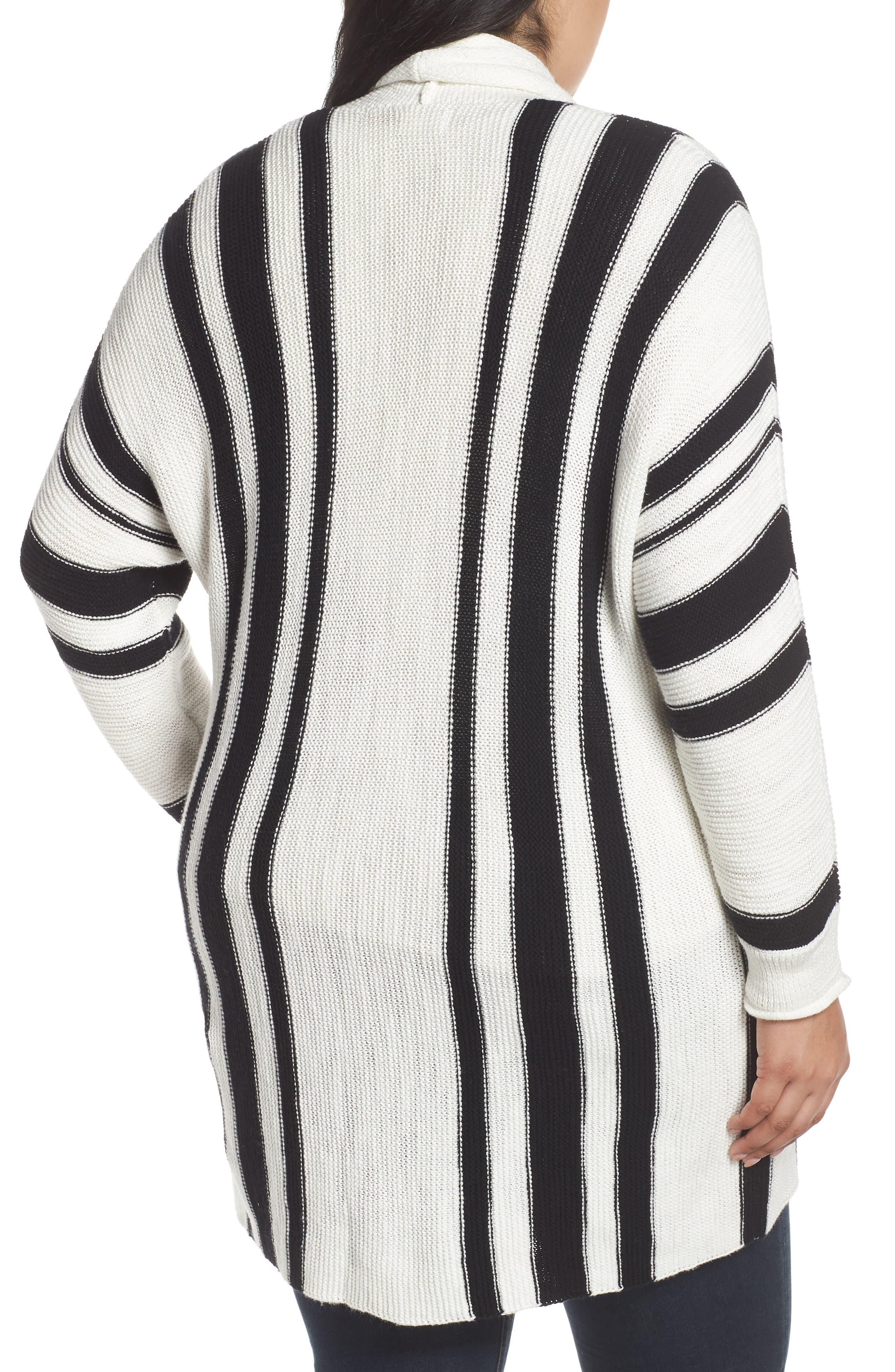 ,                             Stripe Open Front Cardigan,                             Alternate thumbnail 8, color,                             900