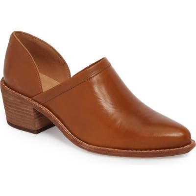 Madewell The Brady Block Heel Bootie- Brown