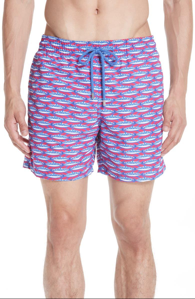 VILEBREQUIN Marbella Print Swim Trunks, Main, color, MULTI