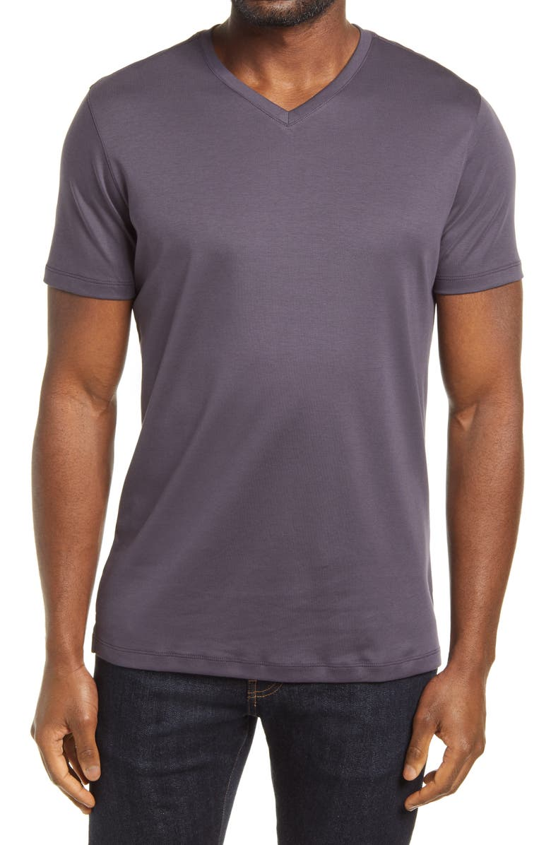 ROBERT BARAKETT Georgia Regular Fit V-Neck T-Shirt, Main, color, WINTER PURPLE