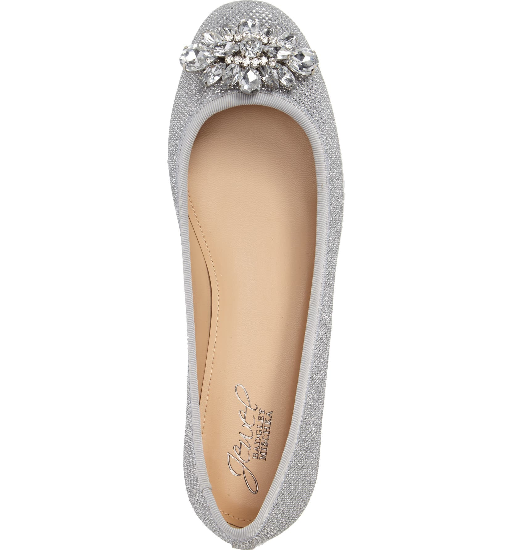 f0fe81125 Jewel Badgley Mischka Cabella Embellished Ballet Flat (Women) | Nordstrom