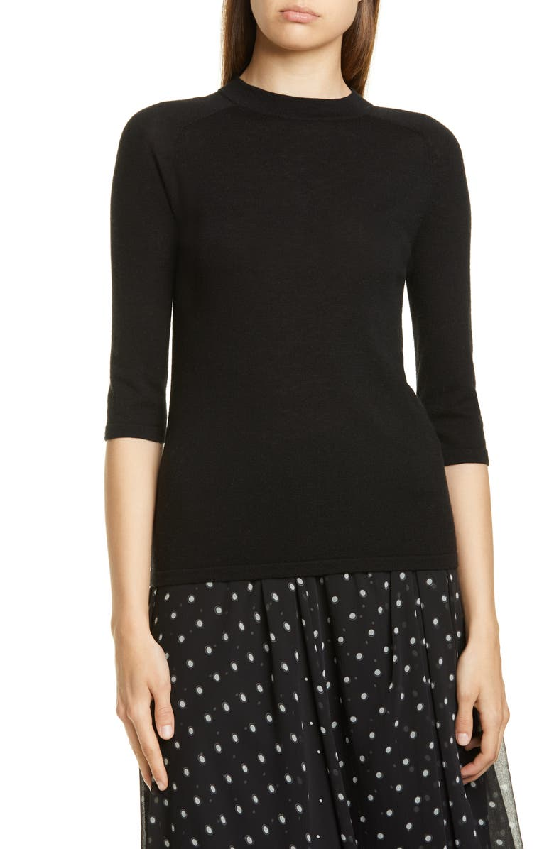 VINCE Wool Blend Sweater, Main, color, BLACK