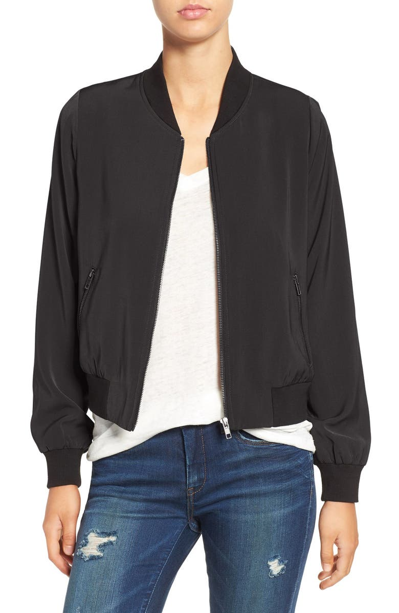 MURAL 'Smooth' Bomber Jacket, Main, color, 001