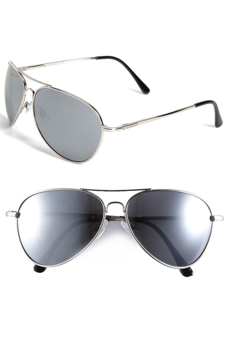 KW 'Fame' Sunglasses, Main, color, Silver