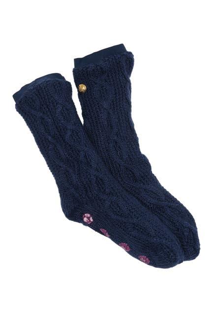 Image of Felina Elastic Cuff Non-Skid Slipper Socks