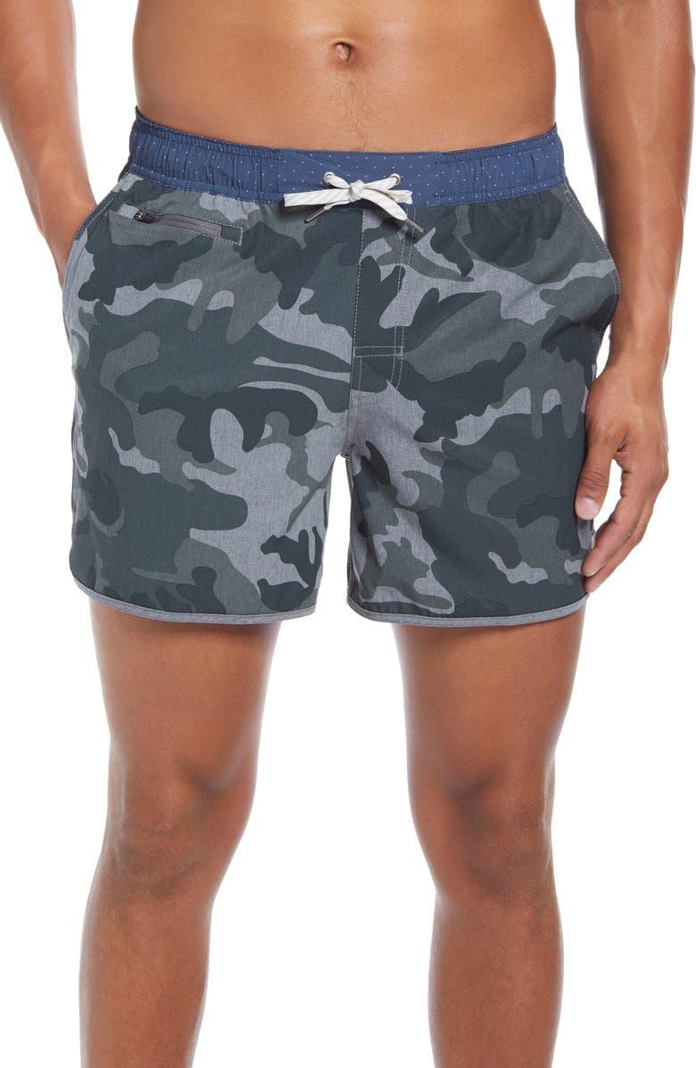 VUORI 5-Inch Banks Hybrid Shorts, Main, color, GREY CAMO