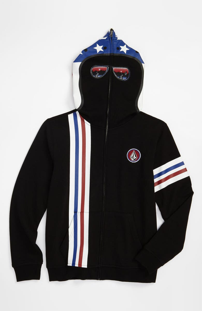 VOLCOM 'Inyoface' Mask Hoodie, Main, color, 001