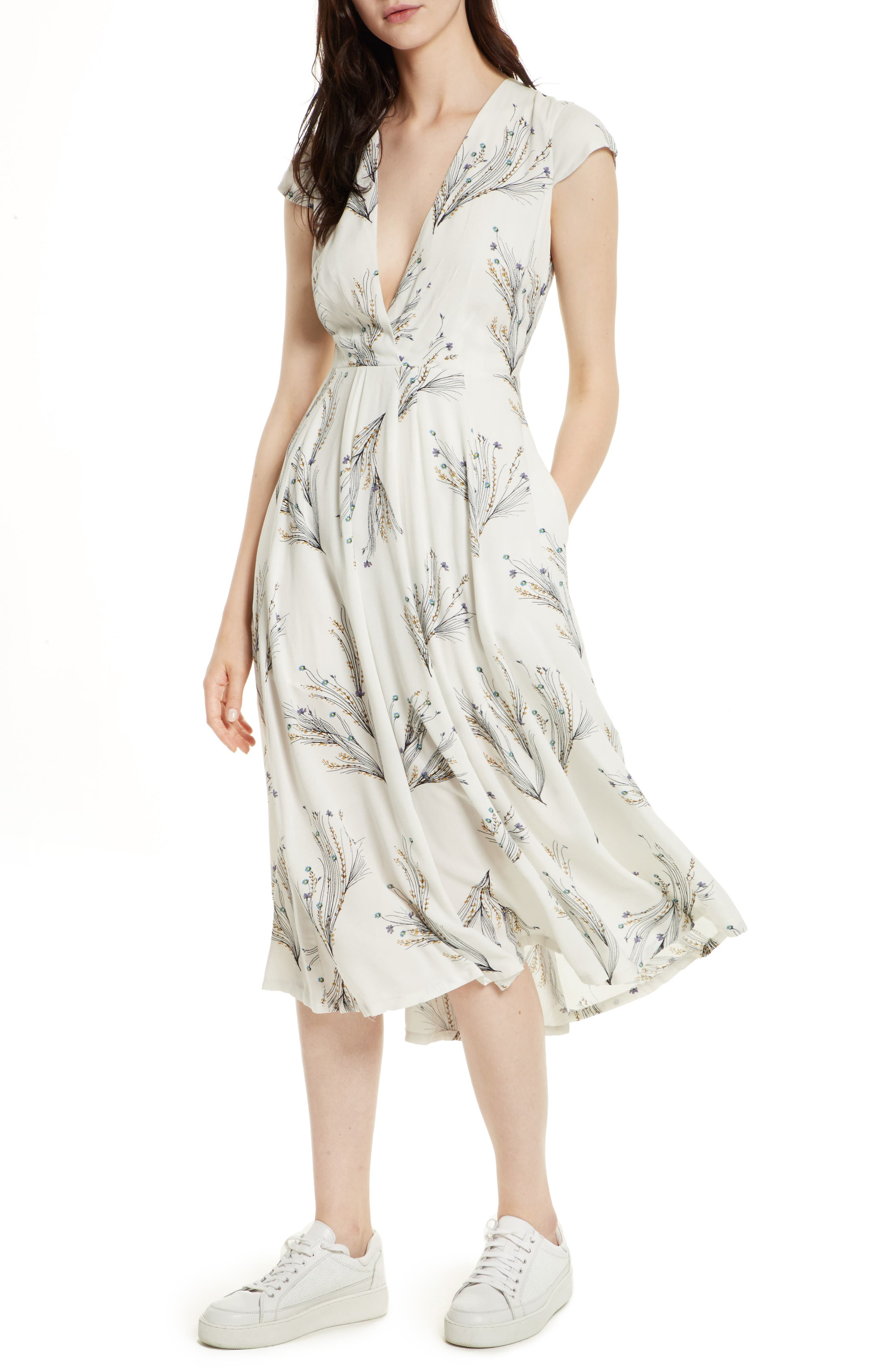 ,                             Print Retro Midi Dress,                             Main thumbnail 16, color,                             903