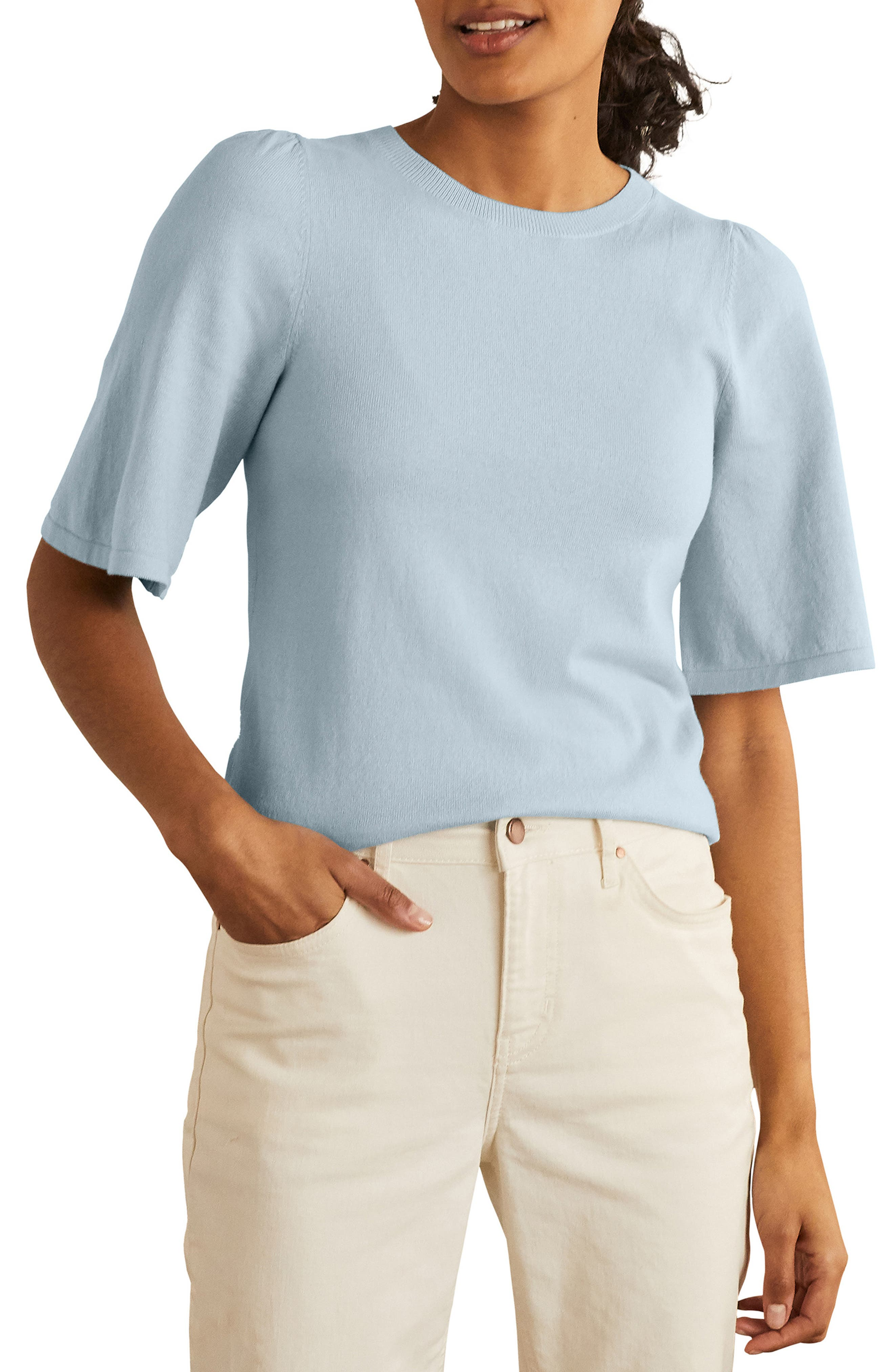 Abbotsbury Cotton & Wool Short Sleeve Sweater