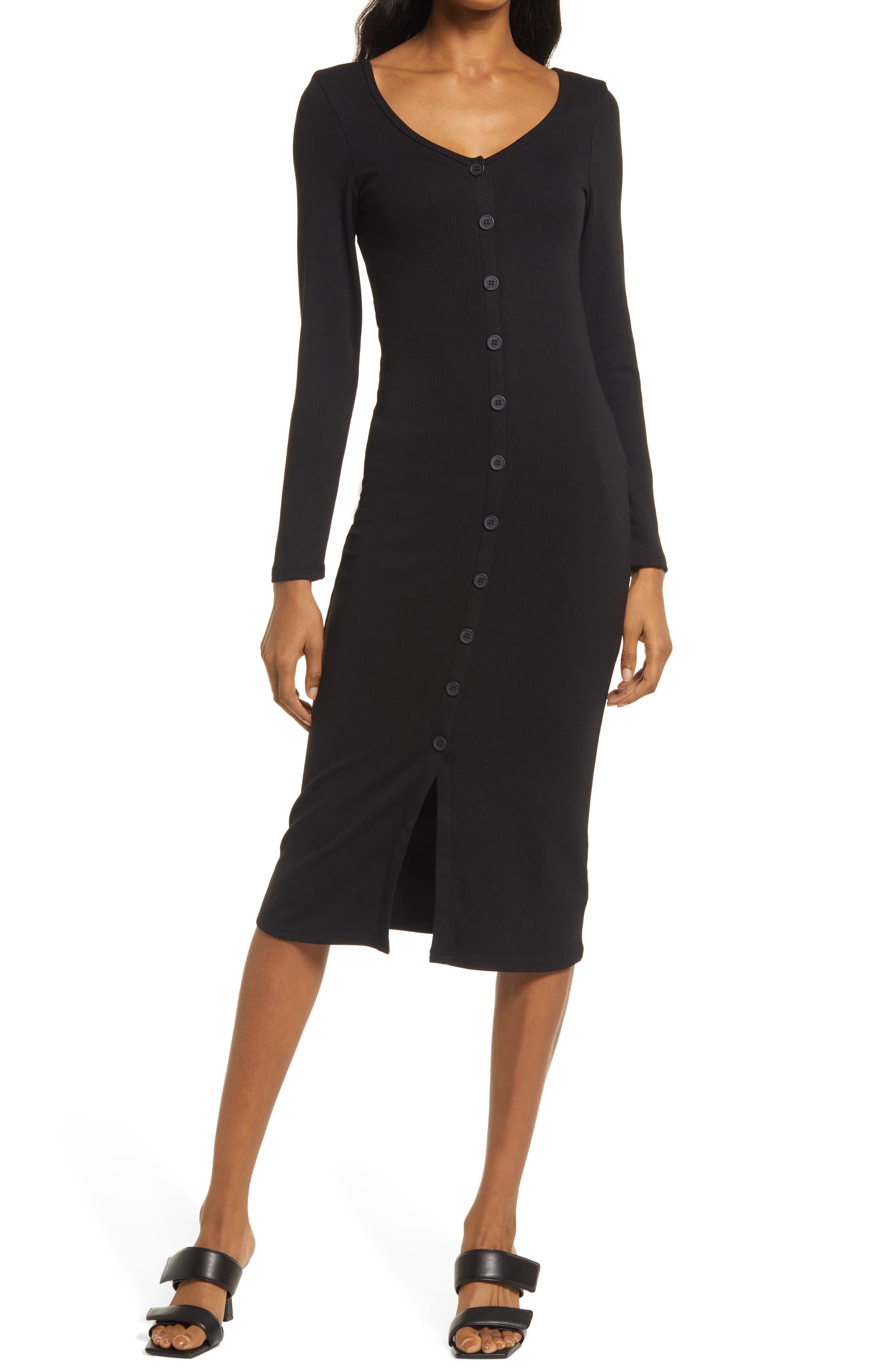 Vision Of Love Long Sleeve Midi Dress