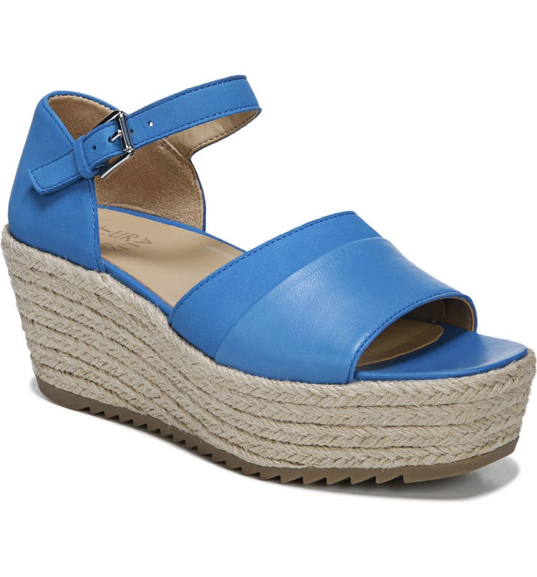 NATURALIZER Opal Espadrille Platform Wedge Sandal, Main, color, ADMIRAL BLUE LEATHER
