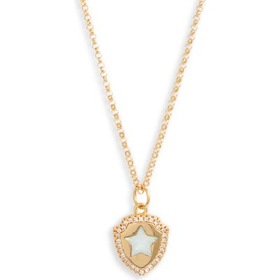 Bracha Opal Shield Pendant Necklace