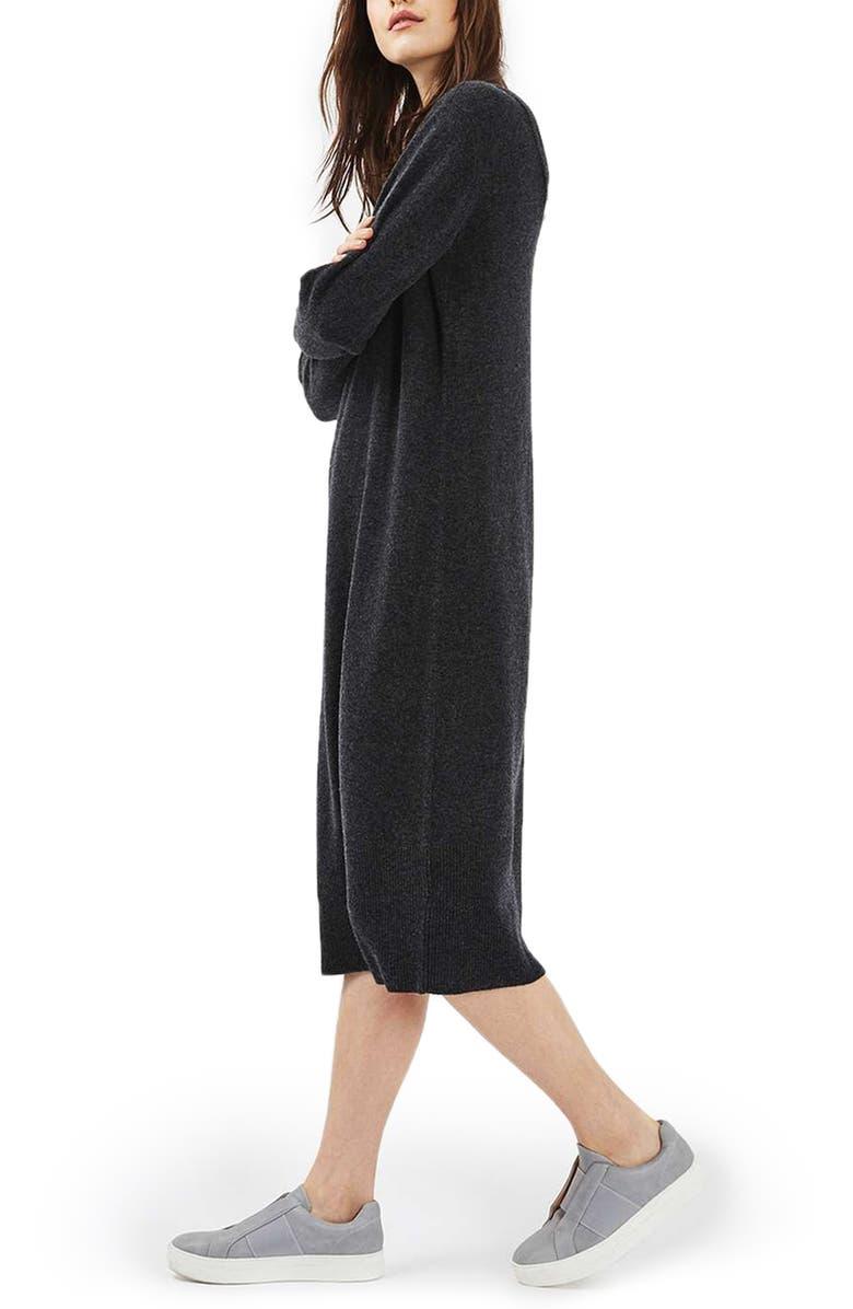 TOPSHOP Luxe Cashmere Dress, Main, color, 021