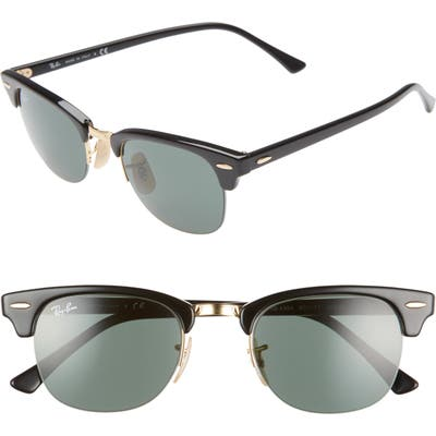 Ray-Ban 4m Clubmaster Sunglasses - Black/ Gold Solid