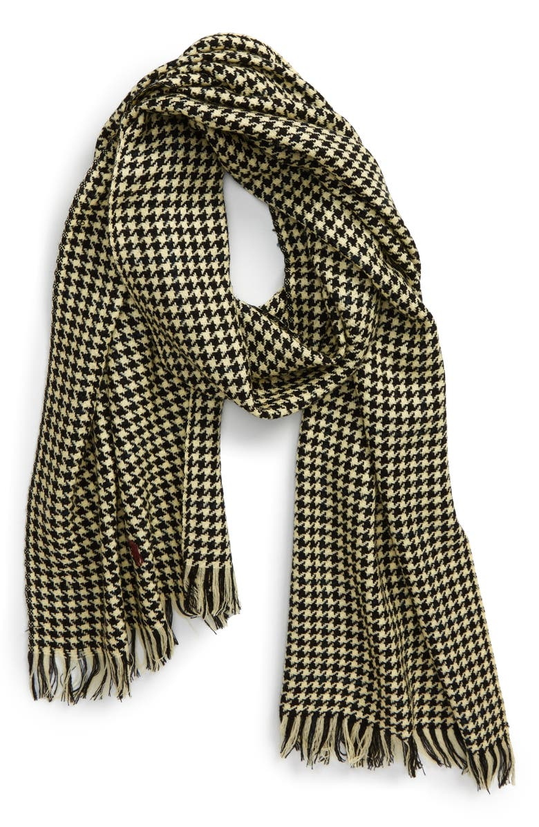 POLO RALPH LAUREN Merino Wool Scarf, Main, color, 001
