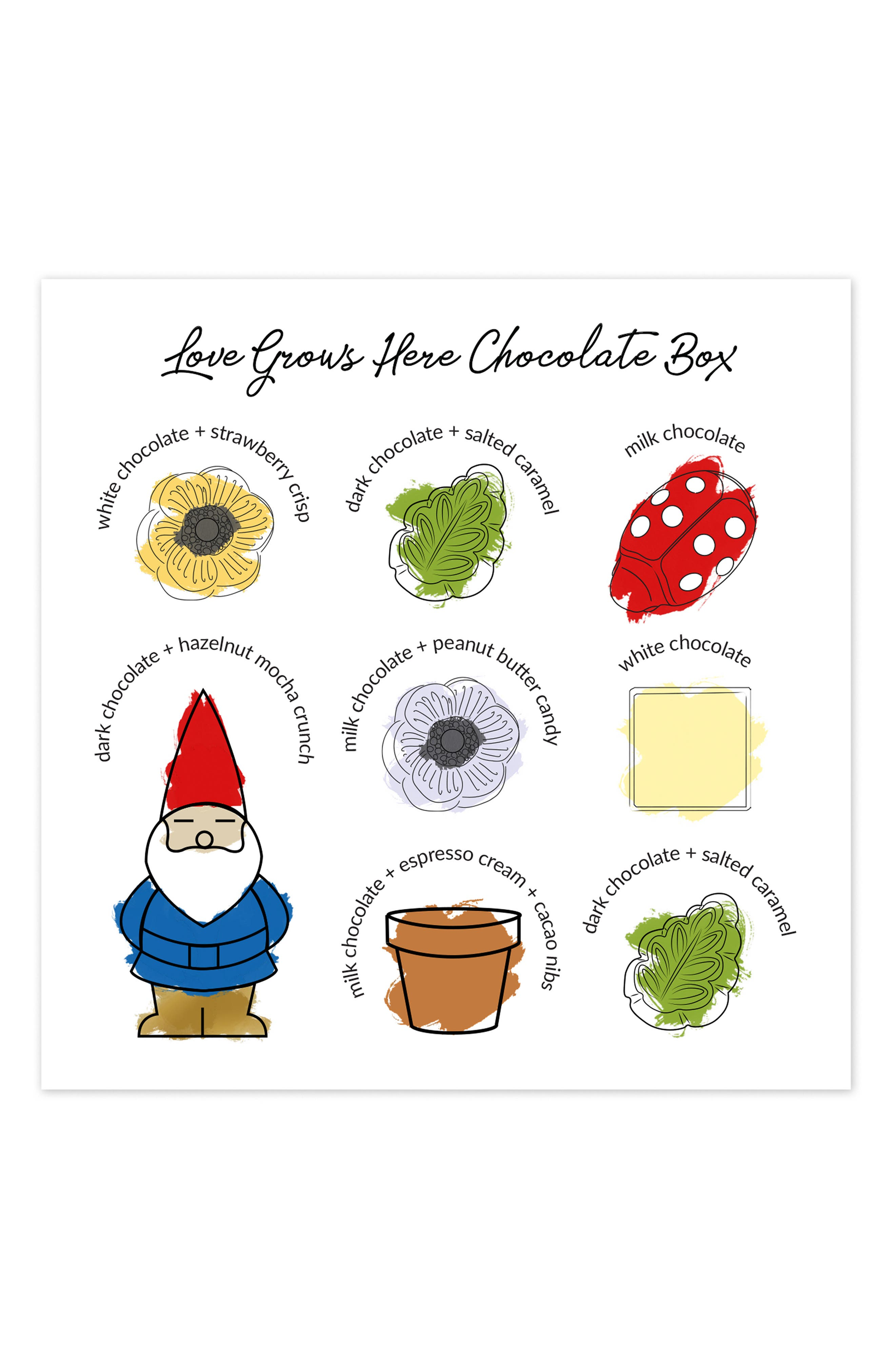 ,                             Love Grows Here 8-Piece Chocolate Set,                             Alternate thumbnail 4, color,                             100