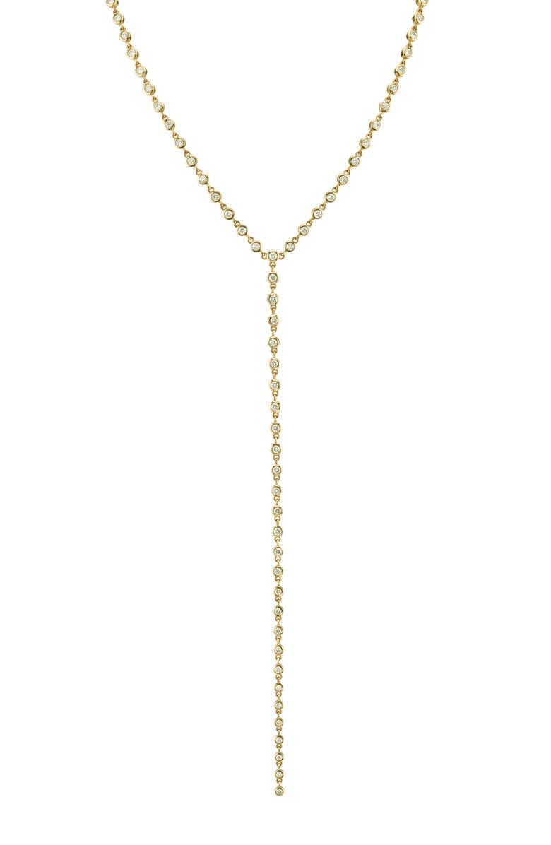 SHAY Diamond Bezel Y-Necklace, Main, color, DIAMOND