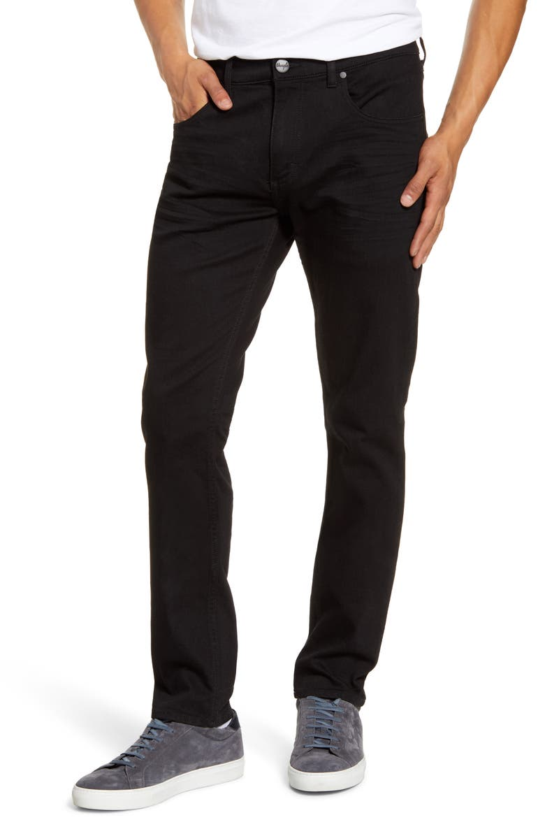 WRANGLER Larston Tapered Slim Fit Jeans, Main, color, BLACK HAWK