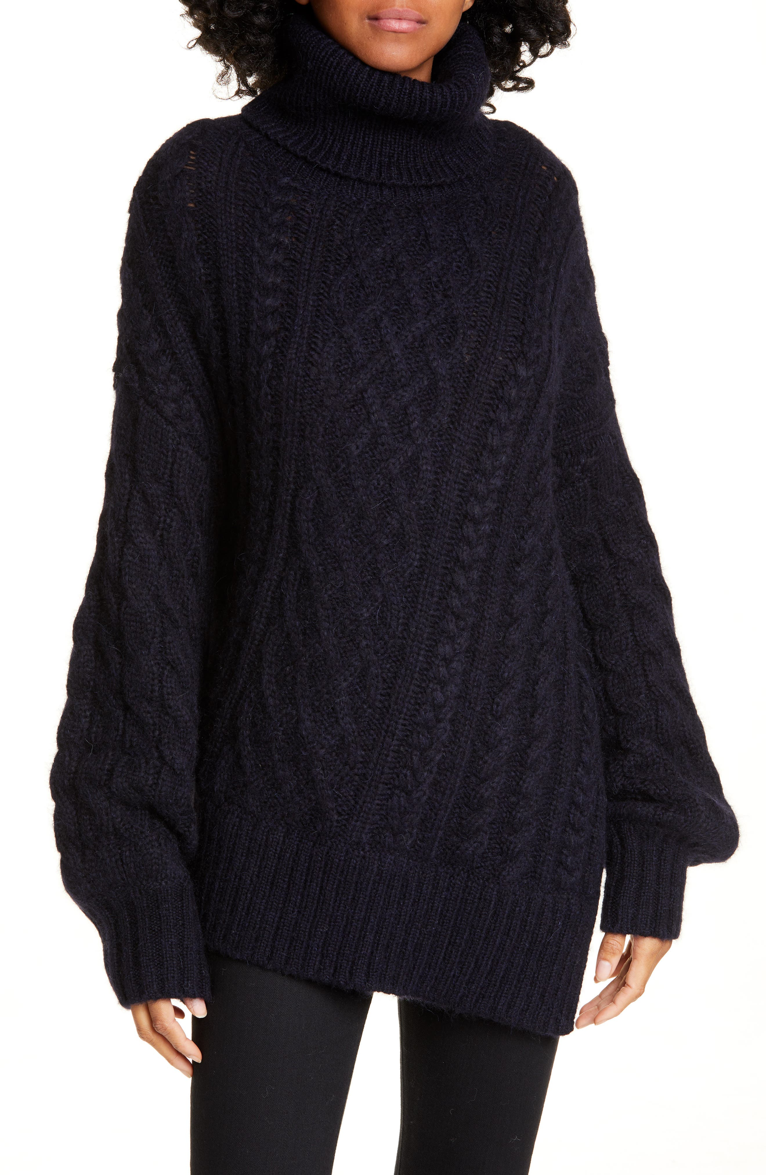 Image of A.L.C. Nevelson Cable Knit Turtleneck Sweater
