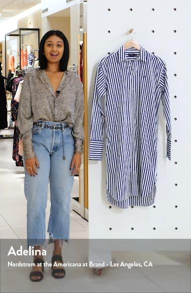 Stripe Long Sleeve Shirtdress, sales video thumbnail