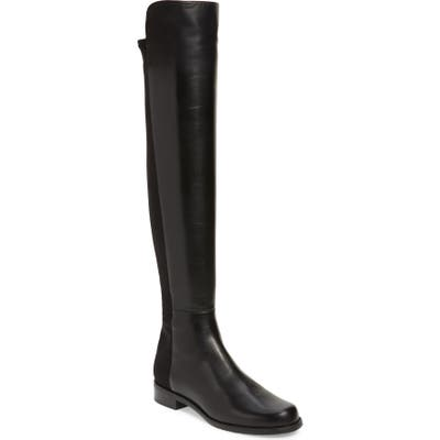 Stuart Weitzman 5050 Over The Knee Leather Boot- Black