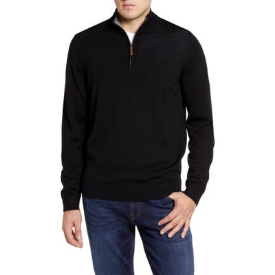 Nordstrom Shop Quarter Zip Wool Pullover