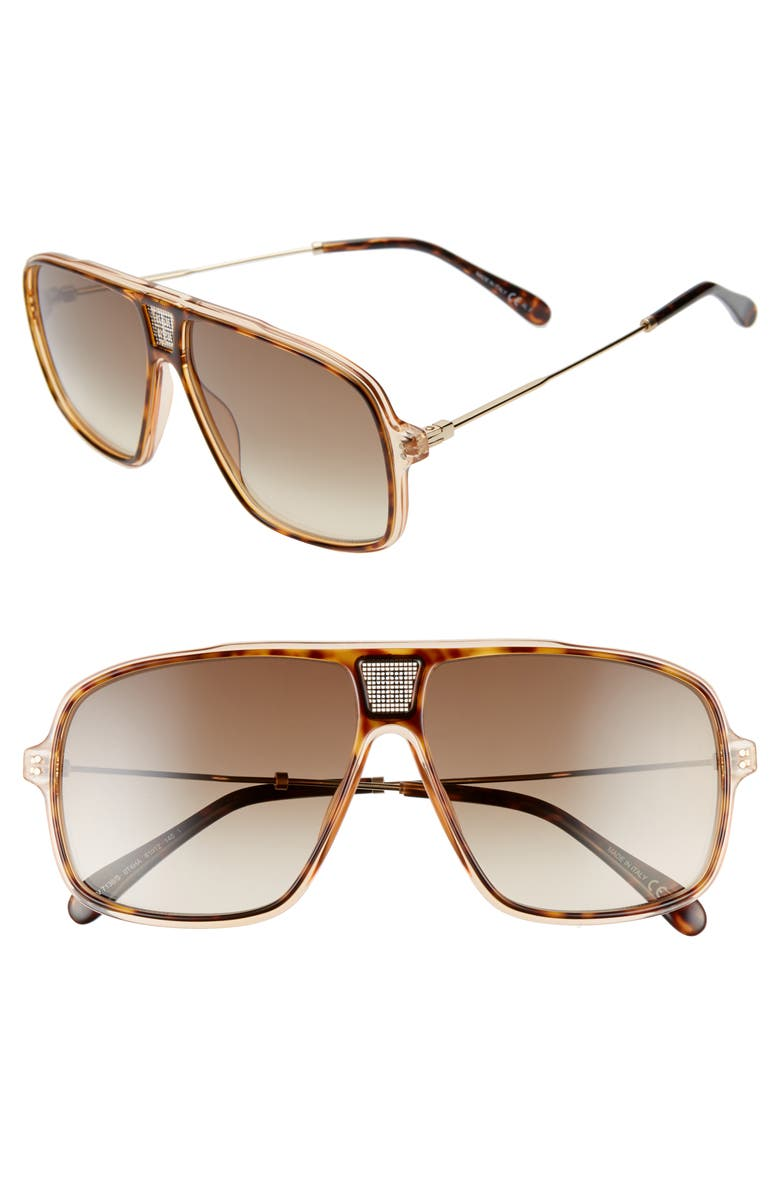 GIVENCHY 61mm Navigator Sunglasses, Main, color, 210