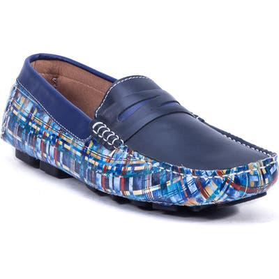 Robert Graham Haggard Driving Shoe, Blue