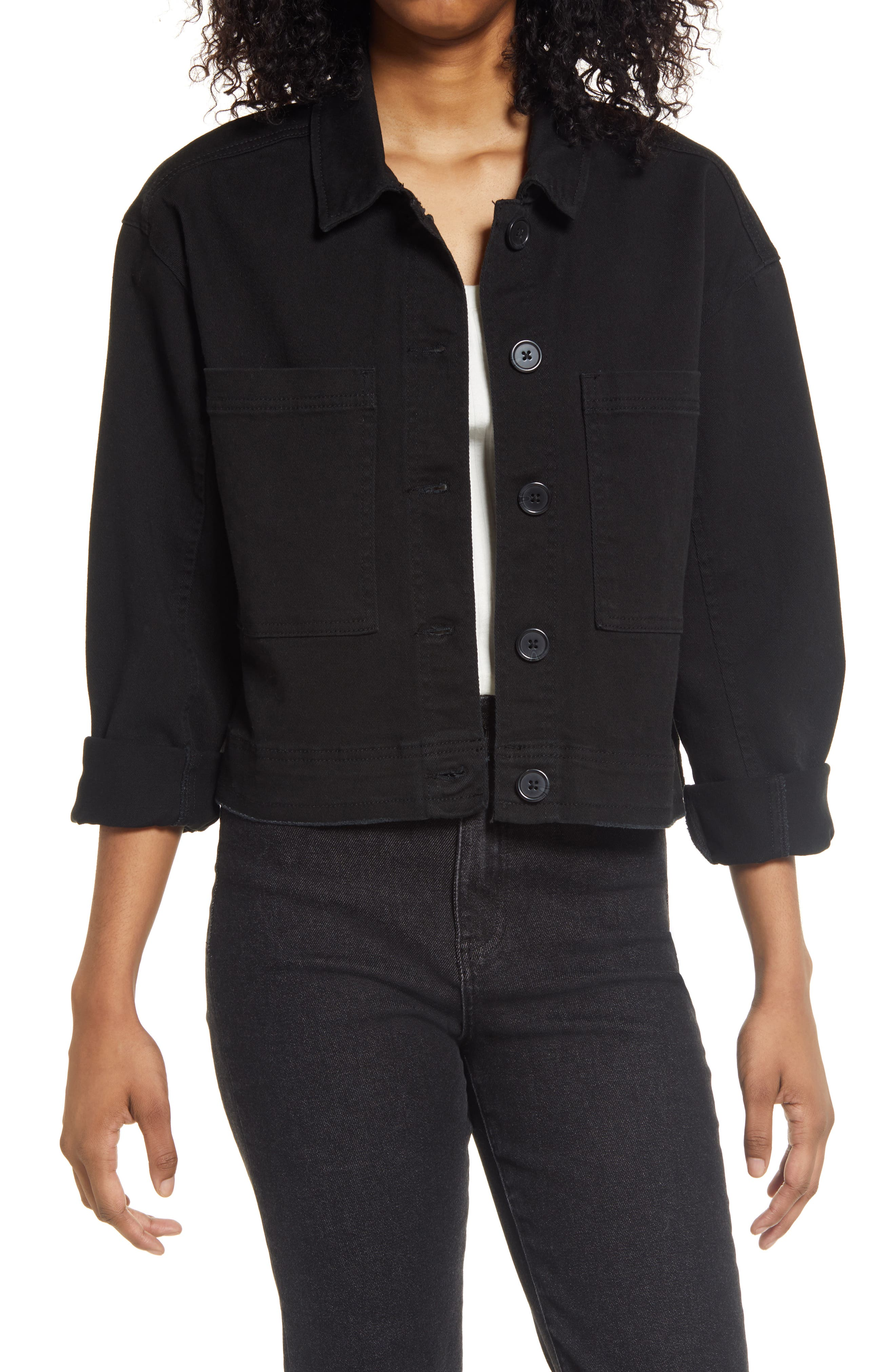 Image of Tinsel Stretch Cotton Workwear Jacket