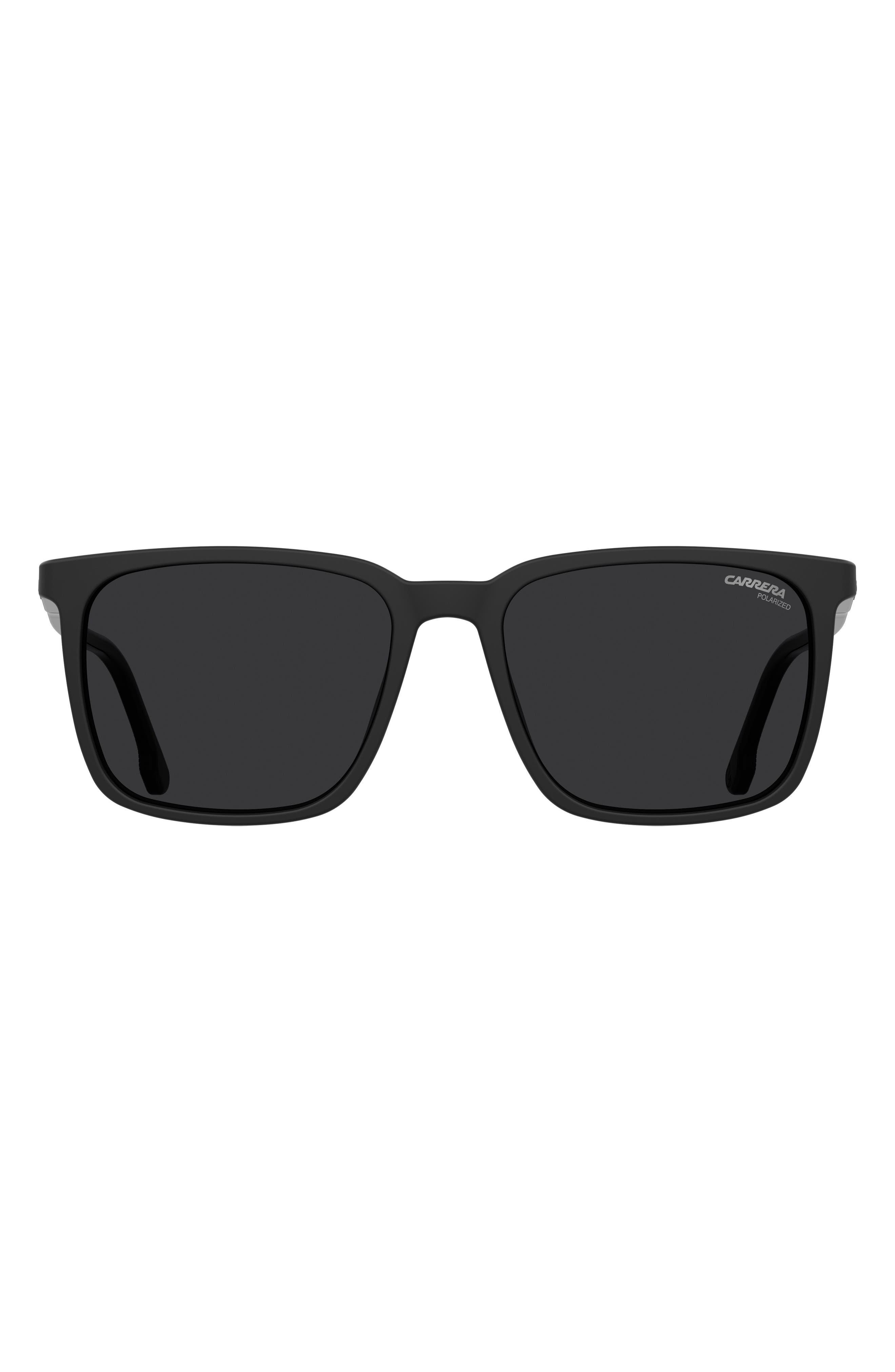 55mm Polarized Rectangle Sunglasses