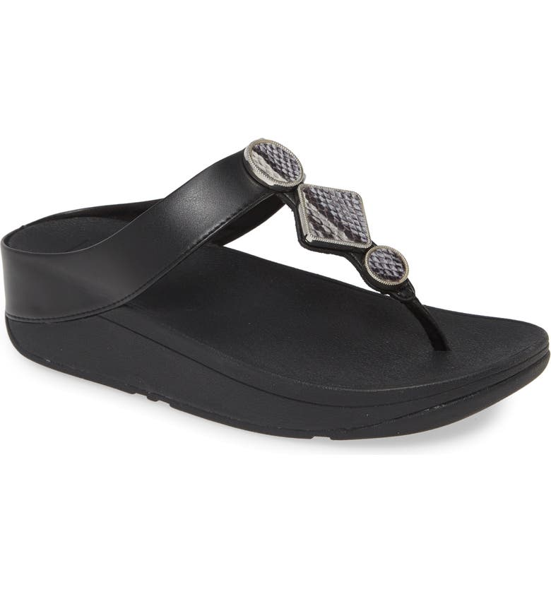 FITFLOP Leia Embellished Flip Flop, Main, color, 001