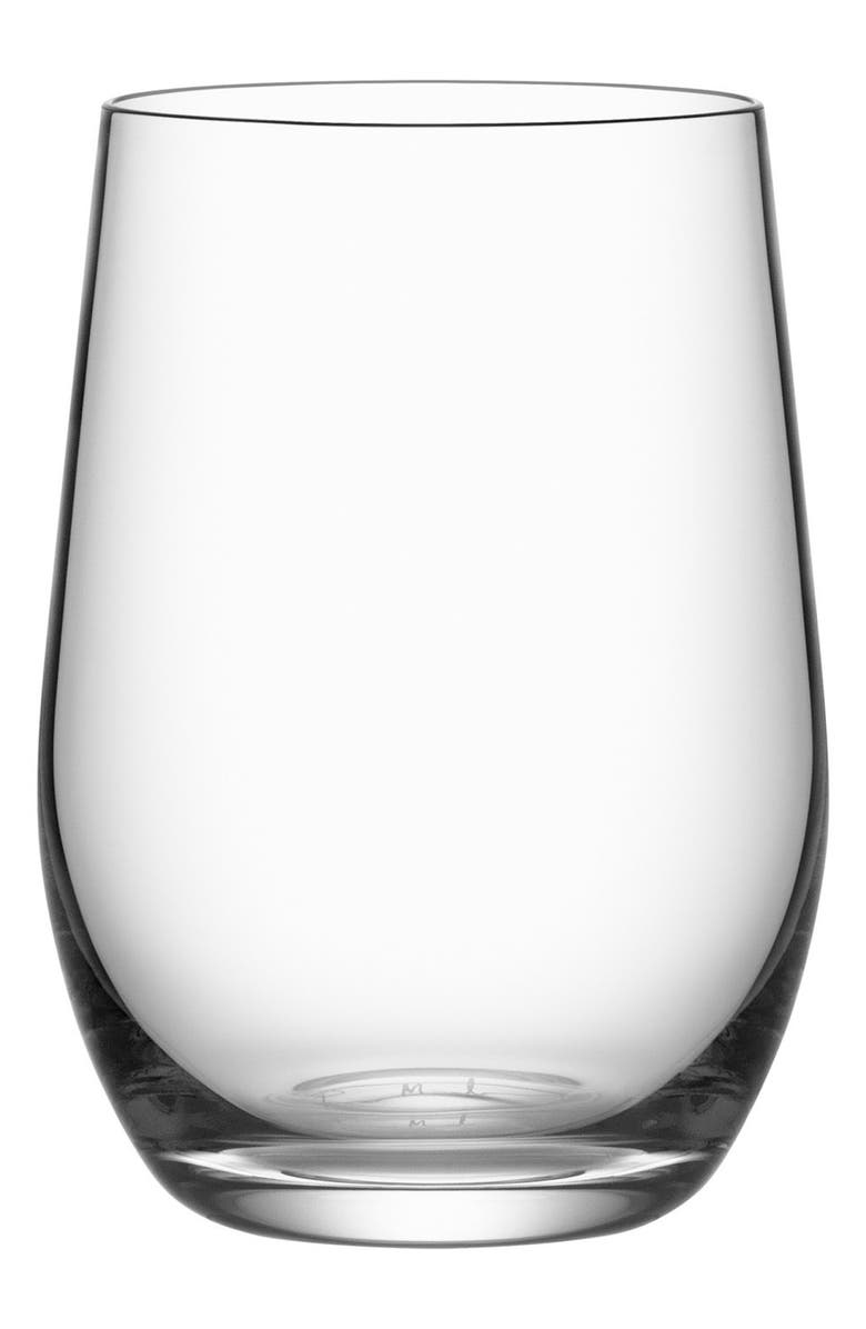 ORREFORS Morberg Collection Set of 4 Crystal Tumblers, Main, color, CLEAR