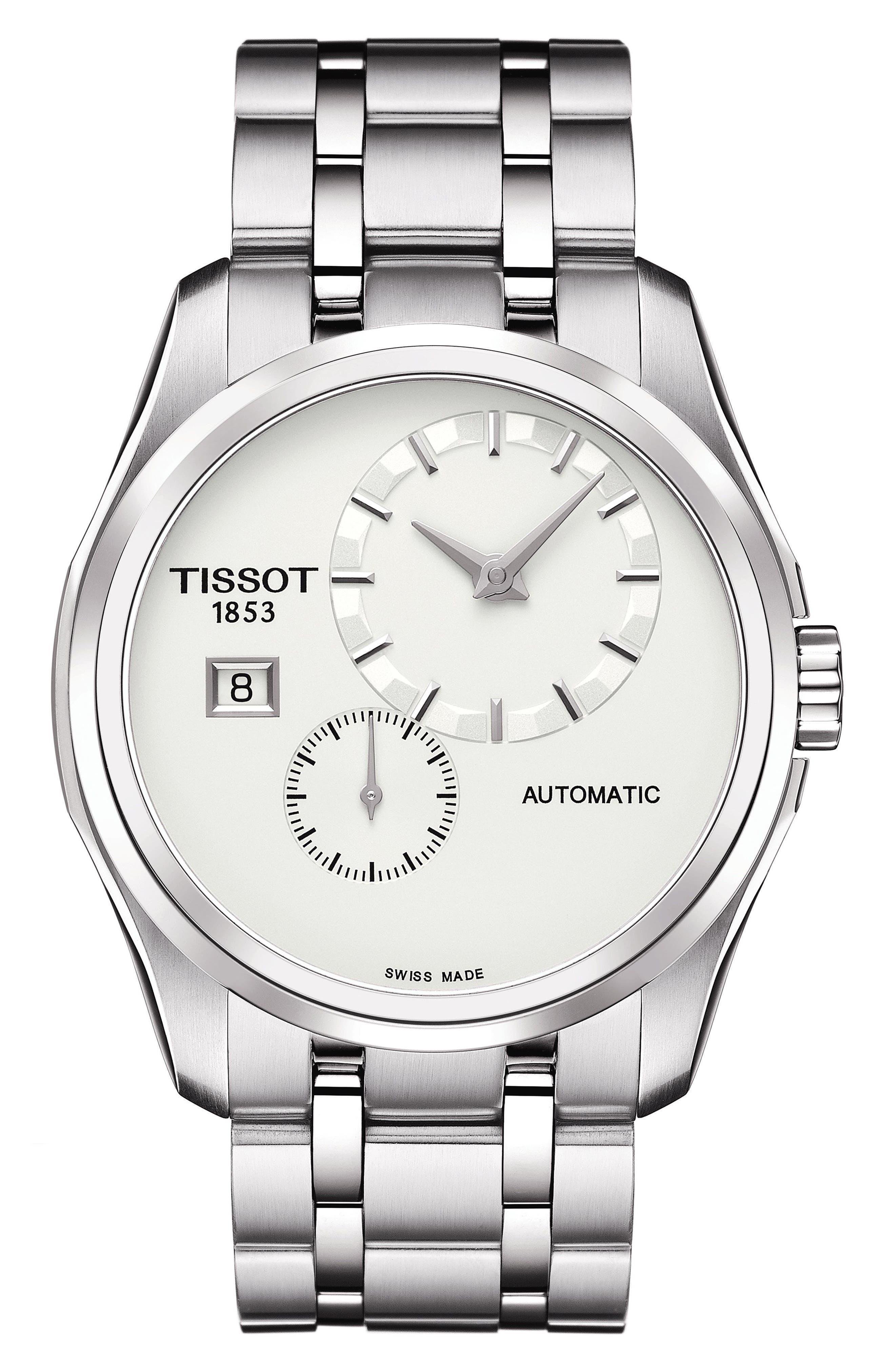 Image of Tissot Men's Couturier Automatic Bracelet Watch, 39mm