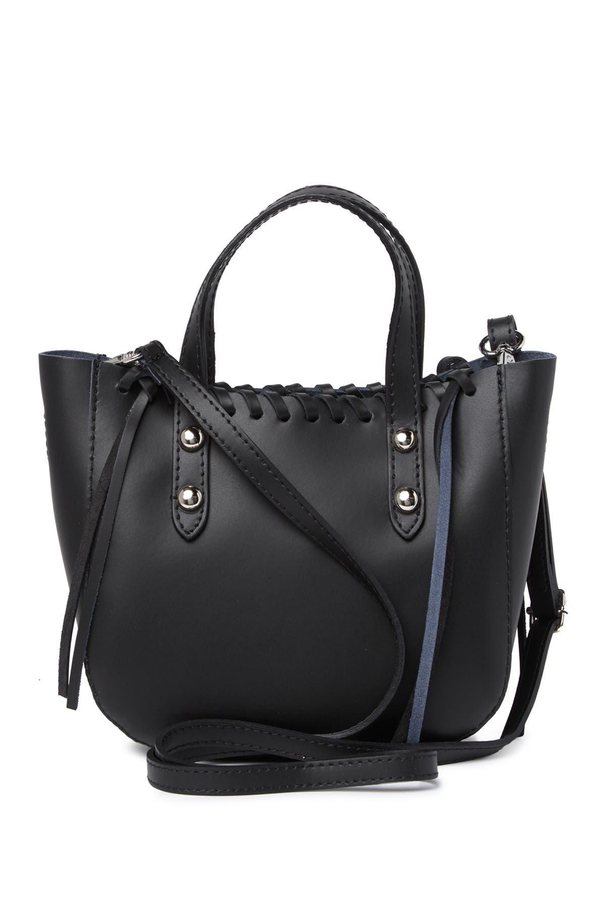 Image of Giorgio Costa Leather Braided Satchel Bag