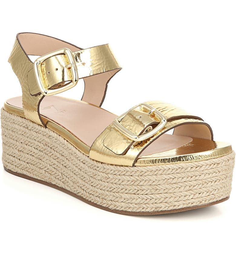 27 EDIT Jovana Espadrille Platform Sandal, Main, color, GOLD LEATHER