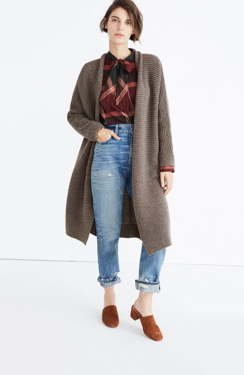 MADEWELL Fulton Sweater Coat, Main, color, 200