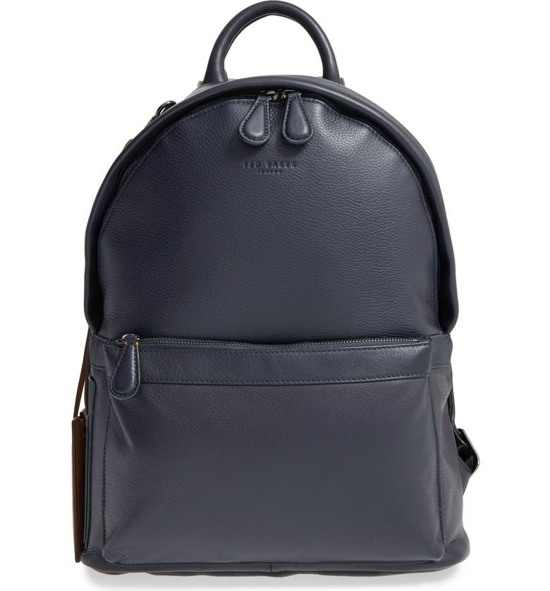 TED BAKER LONDON 'Dollar' Leather Backpack, Main, color, 410