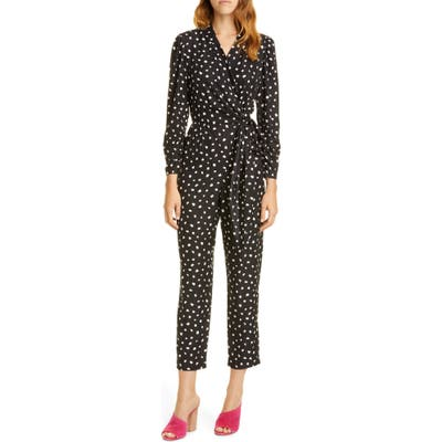 Rebecca Taylor Dot Wrap Jumpsuit, Black