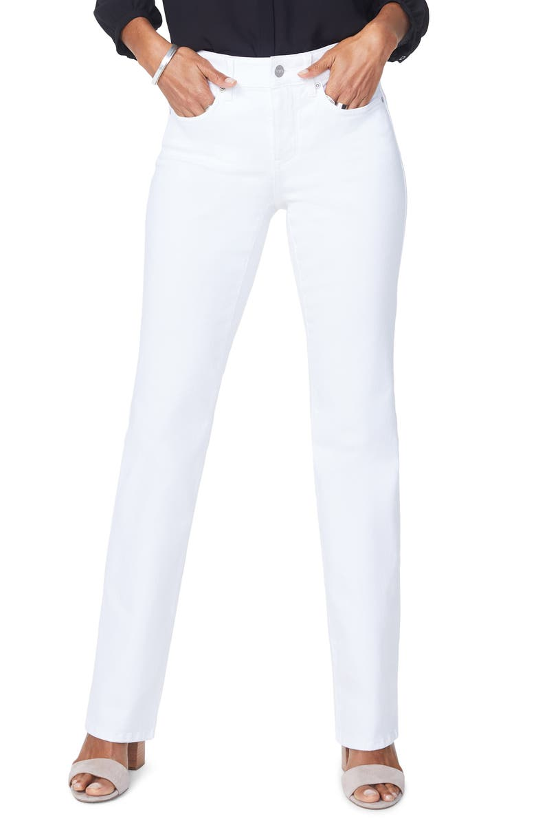 NYDJ Barbara Bootcut Jeans, Main, color, OPTIC WHITE